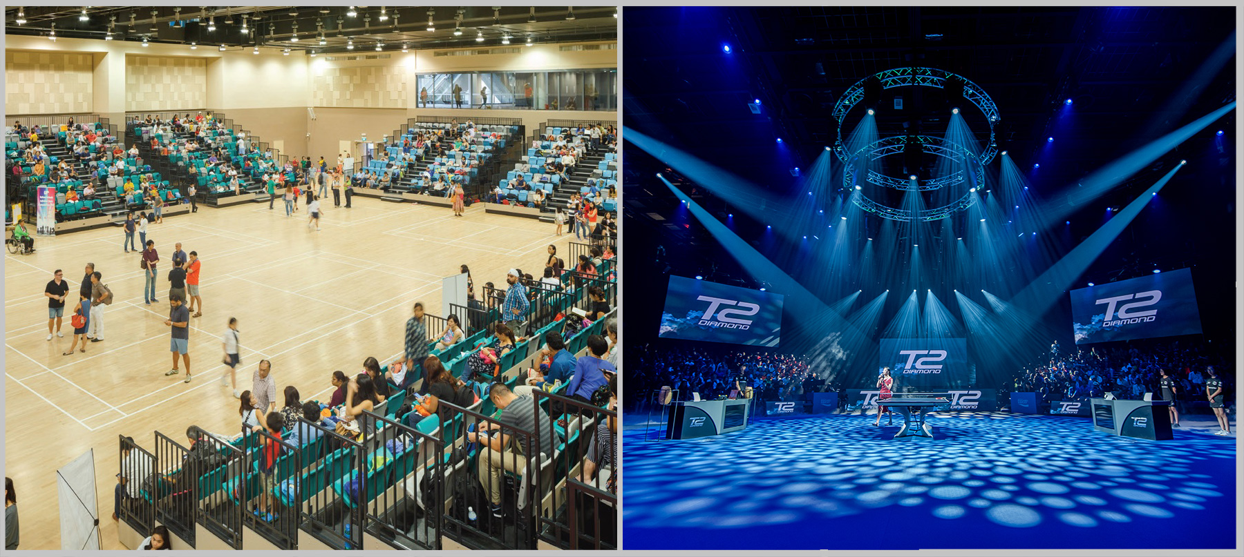 Sports Hall transform into the T2Cavern